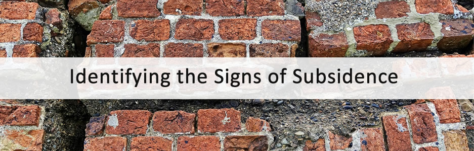 Signs of Subsidence